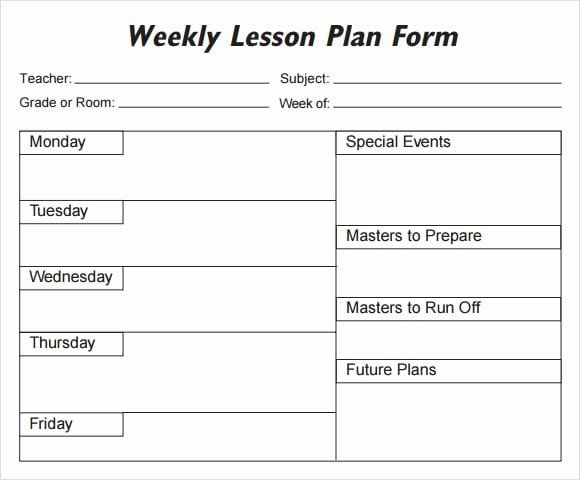 First Grade Lesson Plan Template Lesson Plan Template for College Instructors Beautiful 5