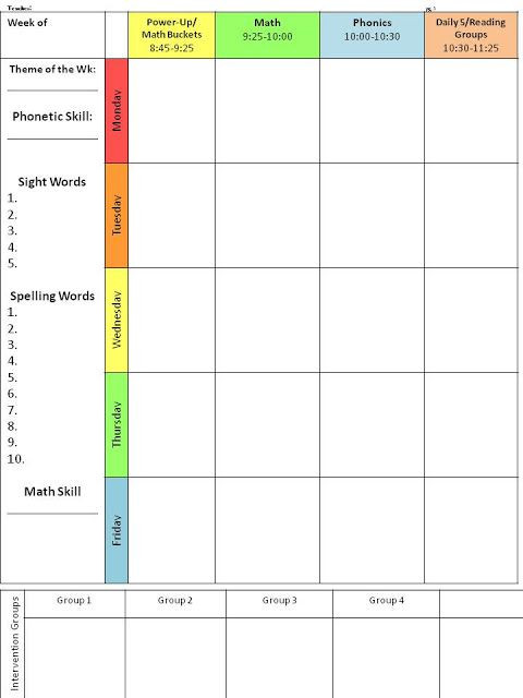First Grade Lesson Plan Template Pin by Jordy Eschrich On Tpt Free Lessons