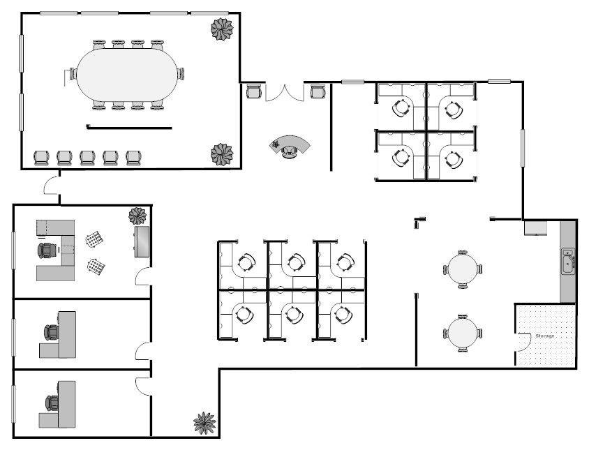 Floor Plan Design Template Open Floor Office Layouts
