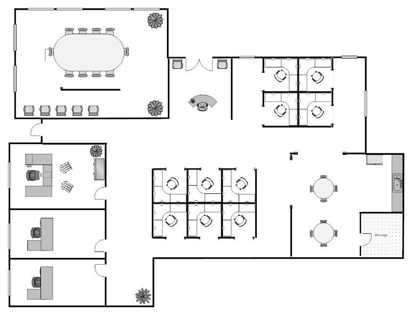 Floor Plans Template Open Floor Office Layouts