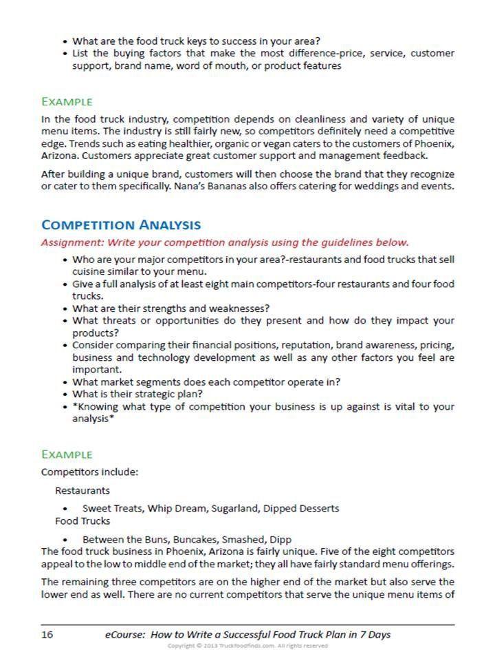 Food Truck Business Plan Template Food Truck Business Plan Template Luxury Food Truck Business