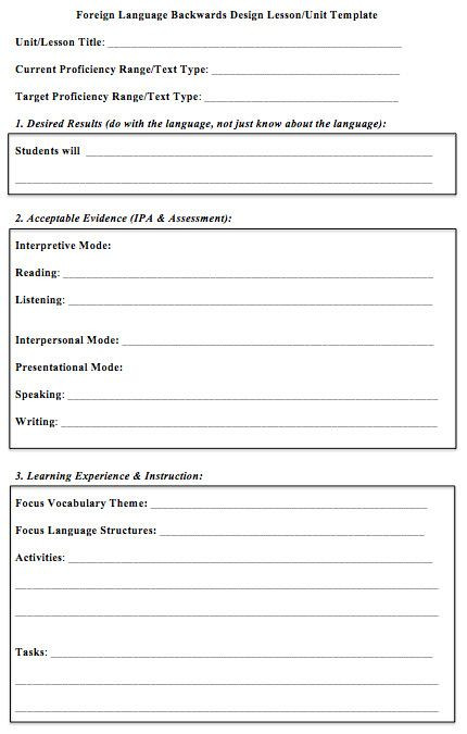 Foreign Language Lesson Plan Template foreign Language Lesson Plan Template Beautiful foreign