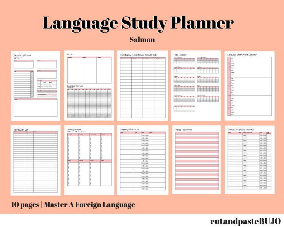 Foreign Language Lesson Plan Template Language Learning Planner
