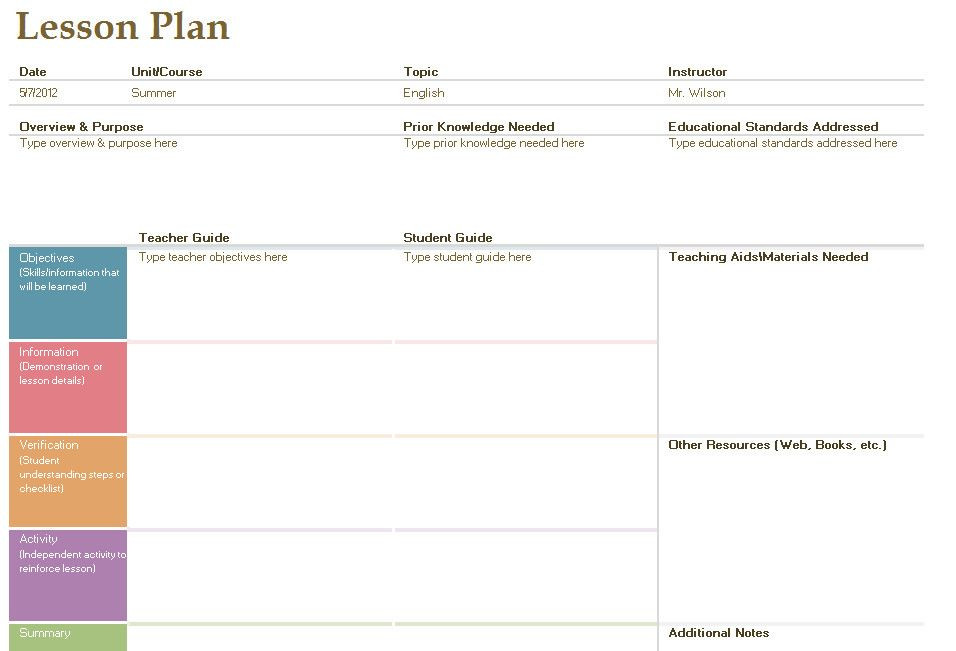 Foreign Language Lesson Plan Template Pin On Example Planners Template Design