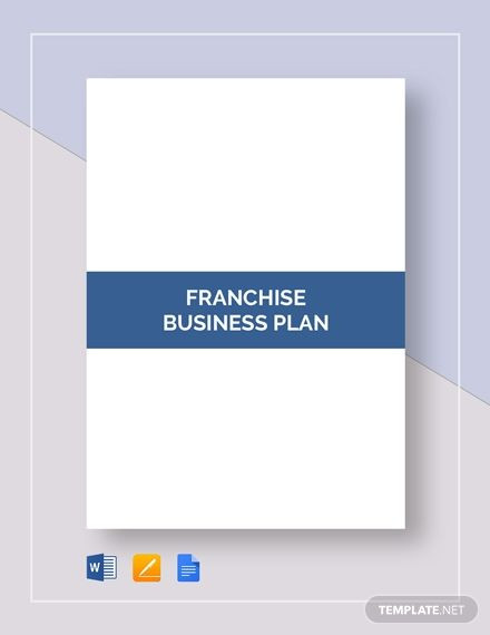 Franchise Business Plan Template Franchise Business Plan Template
