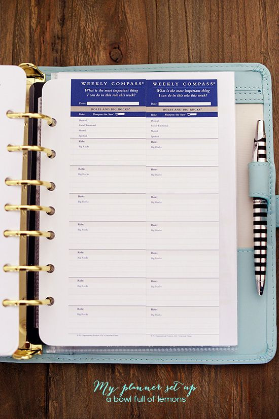 Franklin Covey Daily Planner Template My Planner Set Up
