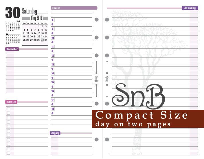 Franklin Covey Daily Planner Template Snb Pact Day On 2 Pages Violet Version 2015