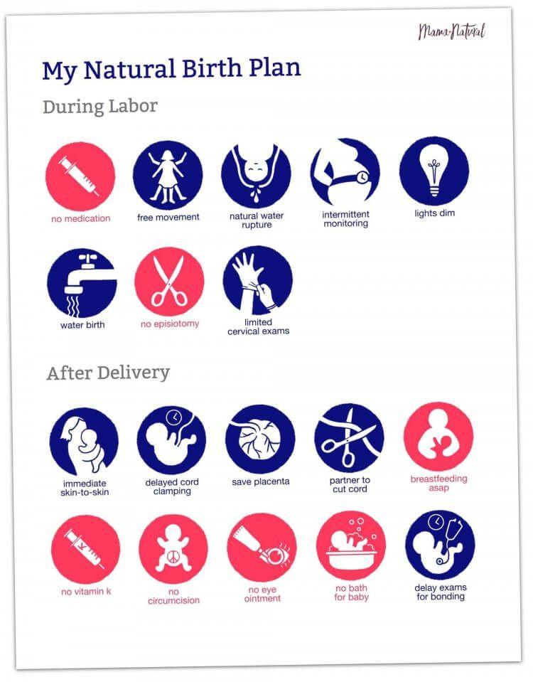 Free Birth Plan Template Free Visual Birth Plan Template Doctors & Nurses Love This