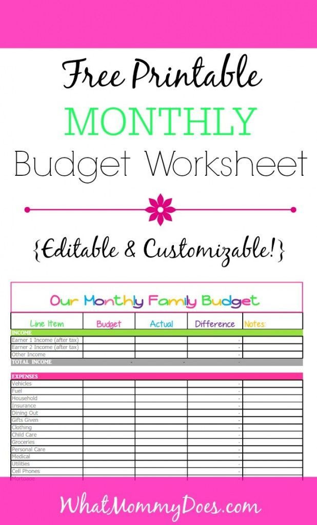 Free Budget Planner Template Cute Monthly Bud Printable – Free Editable Template