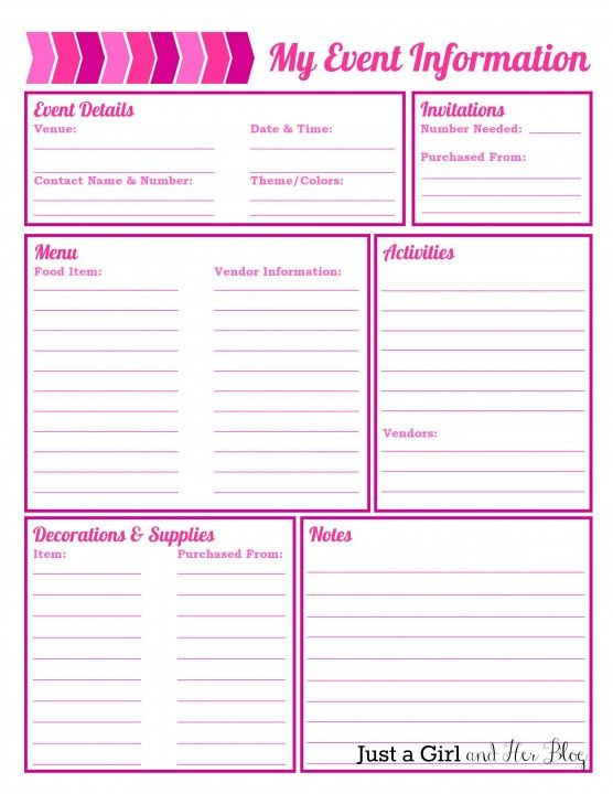 Free event Planning Template Party Planning organized with Free Printables