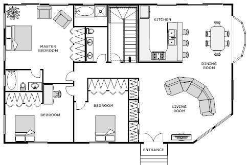 Free Floor Plan Template Floor Plan Design software for Log Homes