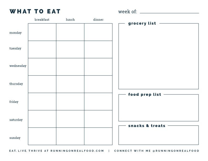 Free Meal Planner Template Download Free Printable Weekly Meal Planner