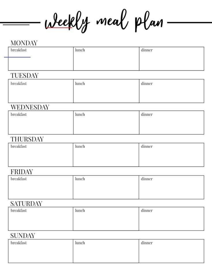 Free Monthly Meal Planner Template Free Printable Weekly Meal Plan Template Paper Trail