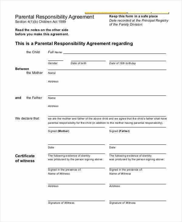 Free Parenting Plan Template Parenting Agreement Template Free Beautiful Parenting