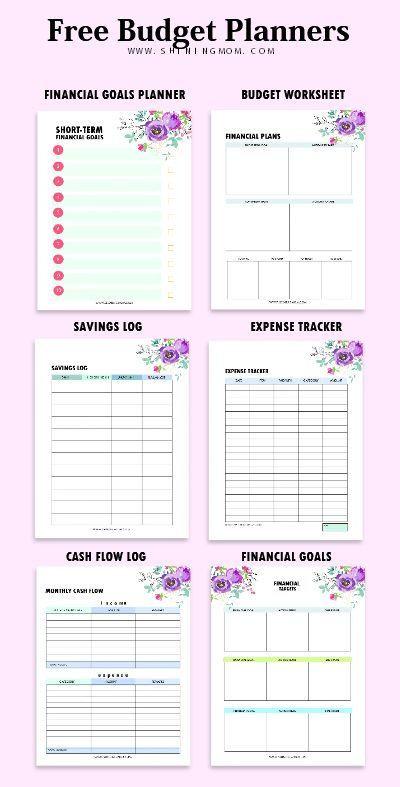 Free Printable Budget Planner Template Bud Template Binder 25 Free Financial Worksheets