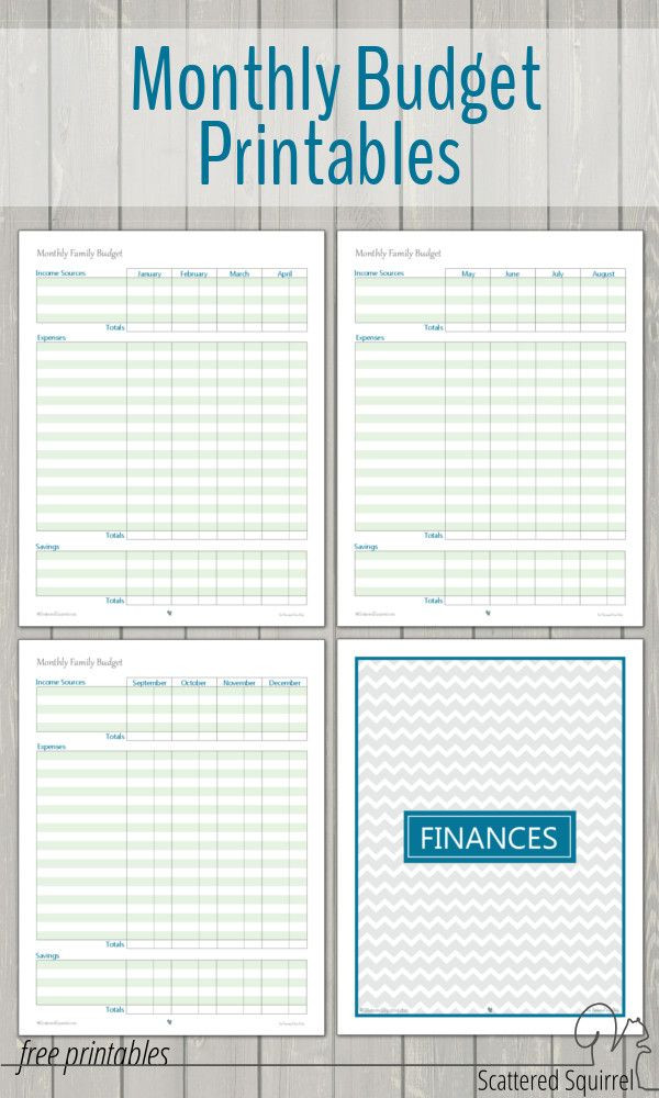 Free Printable Budget Planner Template Home Management Free Printables In 2020