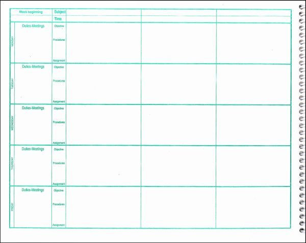 Free Teacher Plan Book Template Pin On Lesson Plans