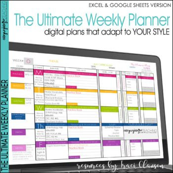 Free Teacher Plan Book Template Teacher Planner Templates Editable Teacher Binder Excel