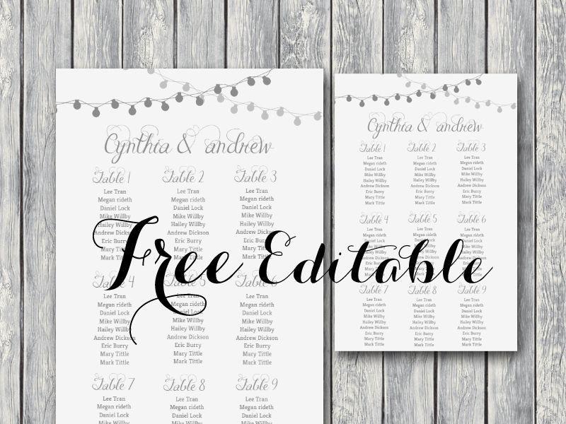 Free Wedding Floor Plan Template Free Night Light Wedding Chart Printable Bride Bows