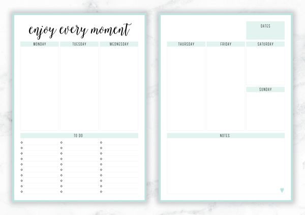 Free Weekly Planner Template Free Printable Irma Enjoy Every Moment Weekly Planner by