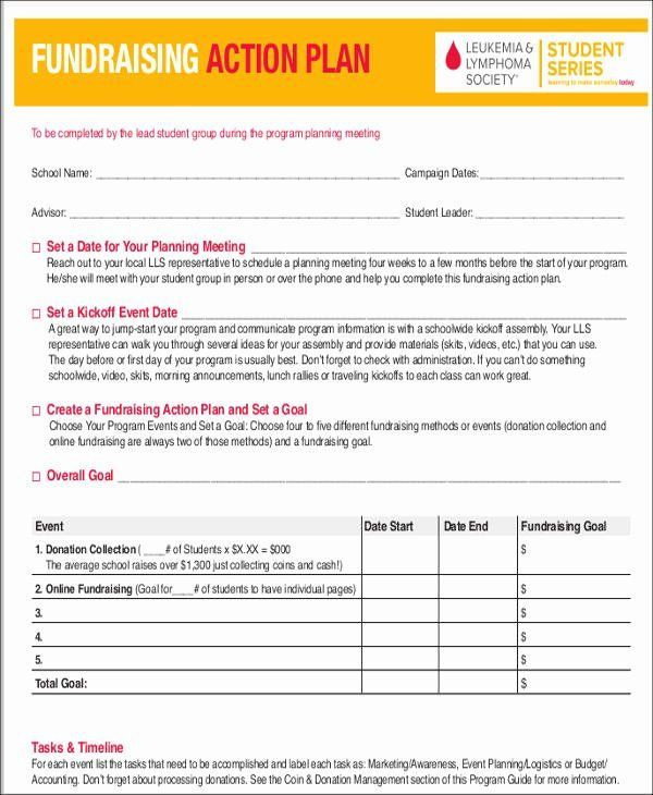 Fundraising event Planning Template Fundraising event Planning Template Fresh 7 event Action