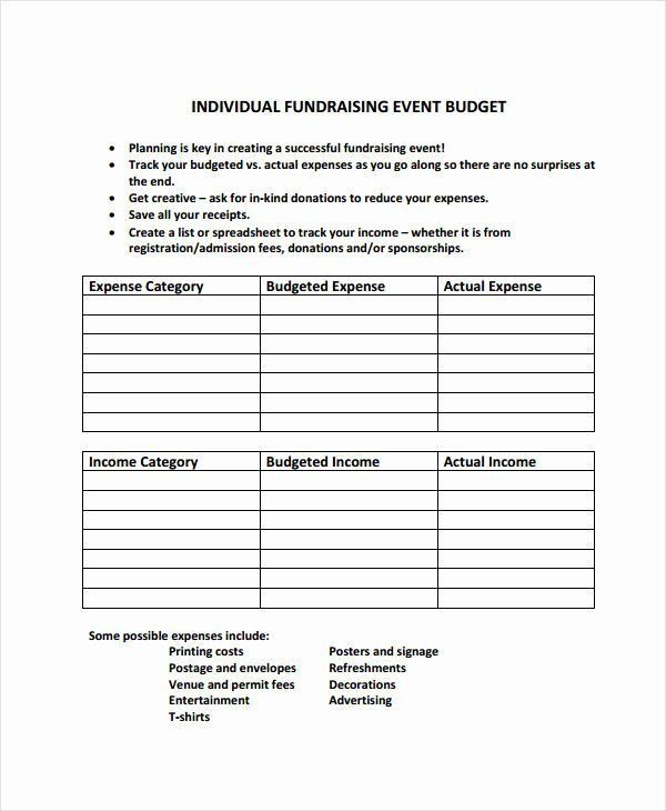 Fundraising event Planning Template Fundraising event Planning Template Lovely 10 event Bud