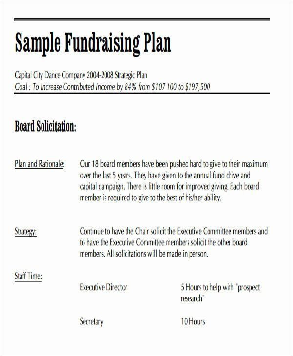Fundraising event Planning Template Fundraising Plan Template Free Lovely 19 event Plan
