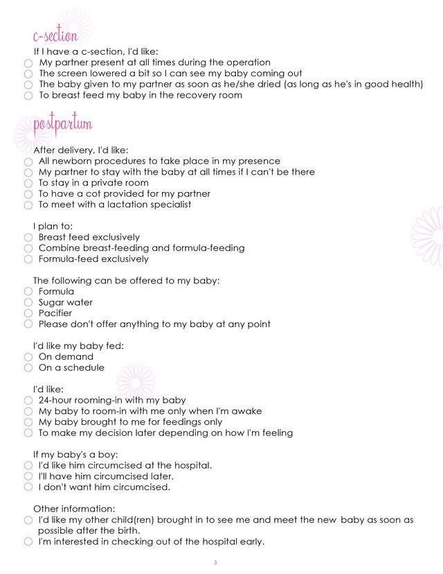 Gentle Cesarean Birth Plan Template What Mommy Brain 10 Printable Checklists that Will organize