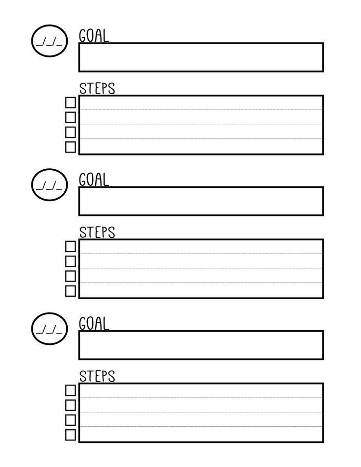 Goal Planning Template Free Printable Goal Setting Worksheet Planner Setting