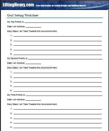 Goal Planning Template Goal Setting for the New Year and Any Other Time