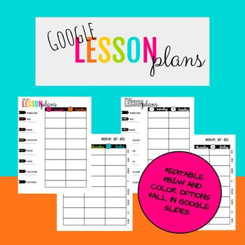Google Drive Lesson Plan Template Google Drive Lesson Planner