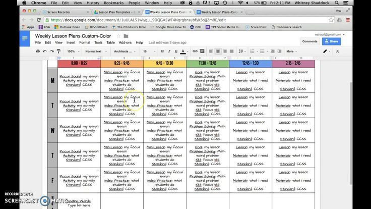 Google Sheets Lesson Plan Template Google Drive Templates Puter Science In 2020
