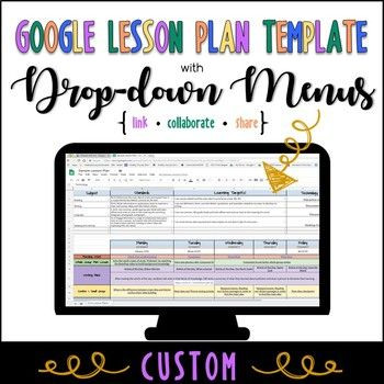 Google Sheets Lesson Plan Template Look No Further for An Easy to Use Electronic Lesson Plan