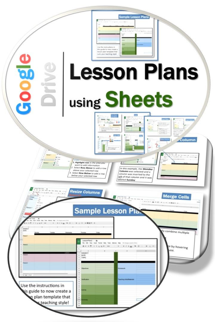 Google Sheets Lesson Plan Template Pin On Google