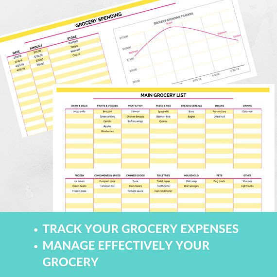 Google Sheets Meal Planner Template Pin On Grocery Planning
