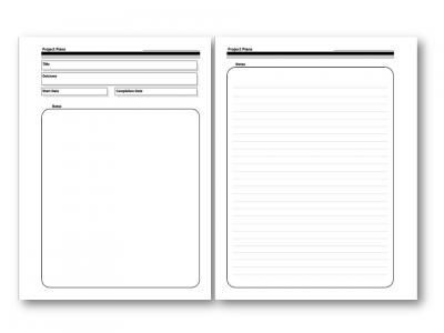 Gtd Project Planning Template Templates D I Y Planner