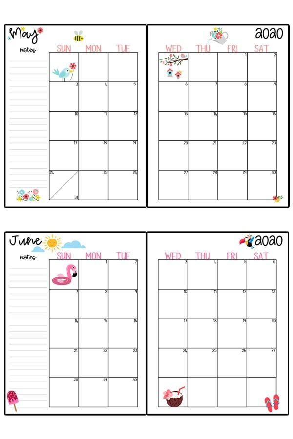 Happy Planner Template 2020 Calendar Printable Free Printable 2020 Monthly
