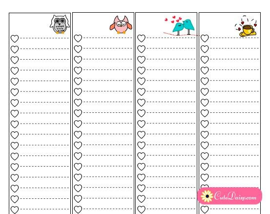 Happy Planner Template Free Printable to Do Lists for Classic Happy Planner Sidebar
