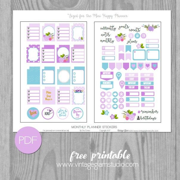 Happy Planner Template Mini Happy Planner Monthly Planner Stickers