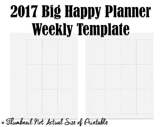Happy Planner Template New 2017 Big Happy Planner Weekly Layout Template