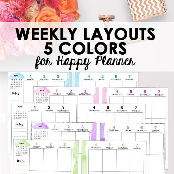 Happy Planner Template Pin On Printables