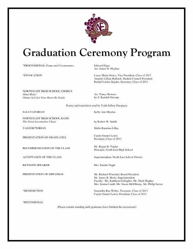 High School Graduation Plan Template Graduation Party Program Template Beautiful Graduation