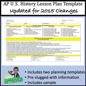 History Lesson Plan Template This Template is Also Editable to Meet Your Exact Needs This