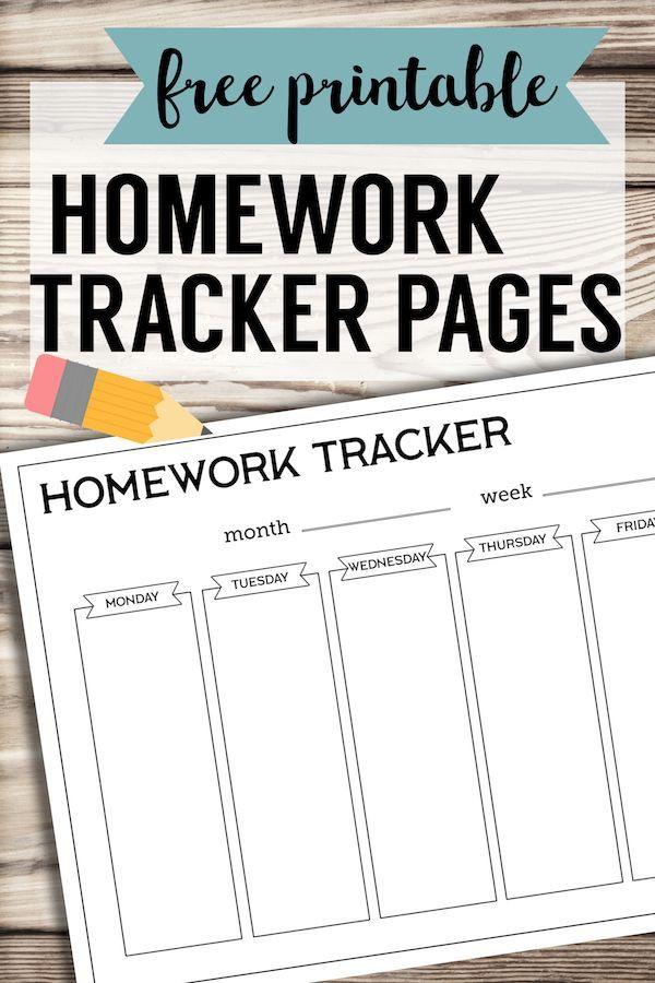 Homework Planner Template Free Printable Student Homework Planner Template