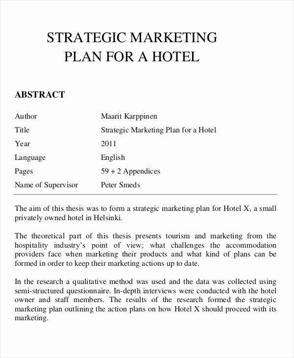 Hotel Business Plan Template Hotel Business Plan Pdf Best 21 Marketing Plan Templates