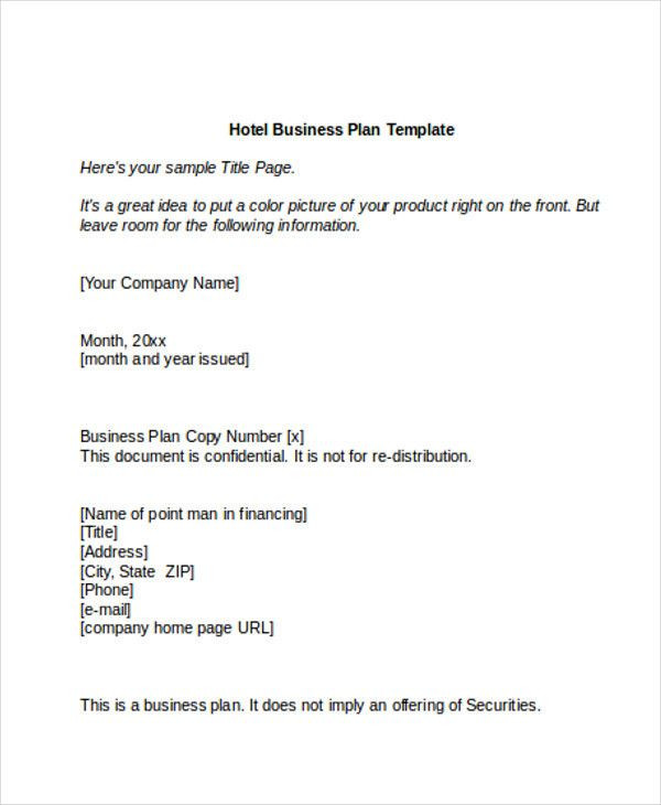 Hotel Business Plan Template Hotel Business Plan Template Unique 12 Hotel Sales Plan
