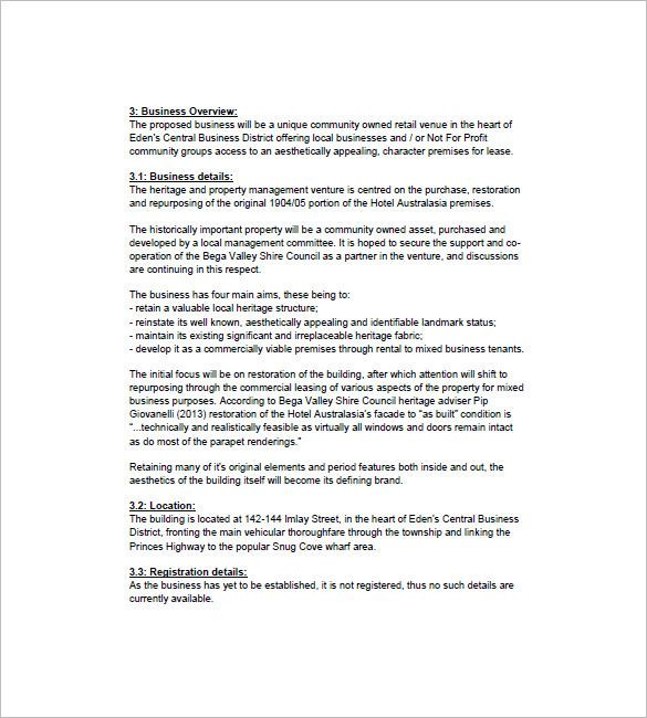 Hotel Business Plan Template Pdf Google Docs Ms Word Apple Pages