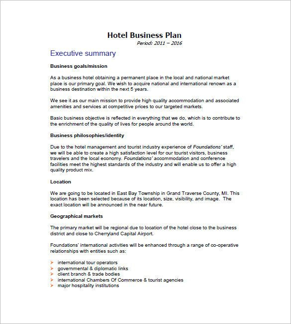 Hotel Business Plan Template Pin On Simple Business Plan Template for Entrepreneurs