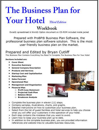 Hotel Business Plan Template the Business Plan for Your Hotel Operation
