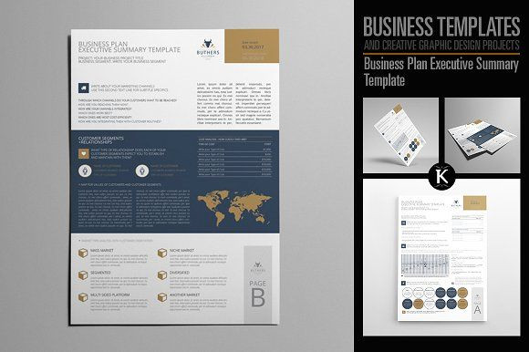 Indesign Business Plan Template Business Plan Executive Summary